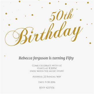 Free 50th birthday invitation templates printable invitationswedd 150 free printable birthday invitation card templates page 2 of 3 filmwisefo