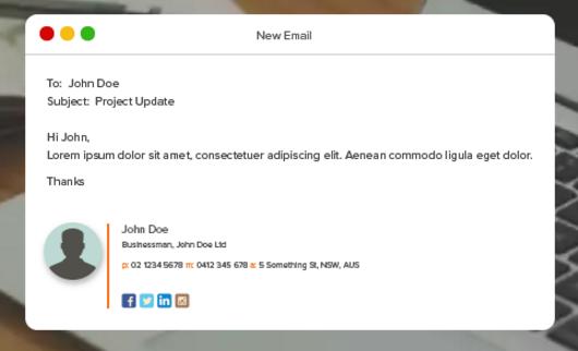 18 Creative Free Email Signature Templates Utemplates