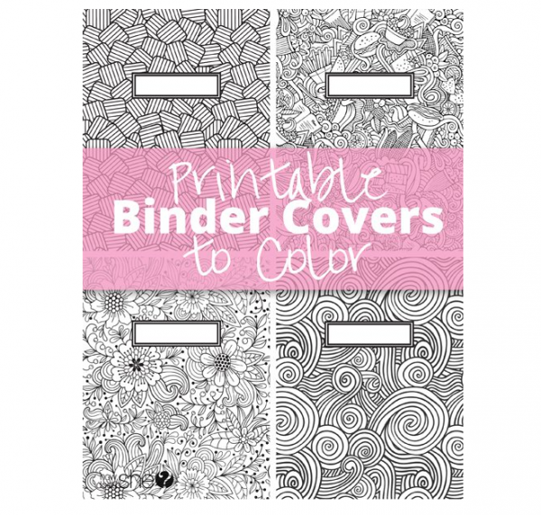 Free Printable Binder Cover to Color