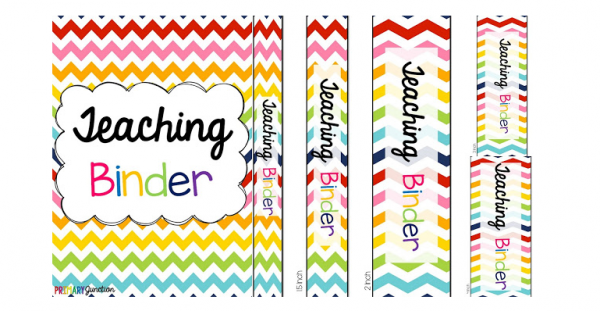 Free Teacher Binder Cover