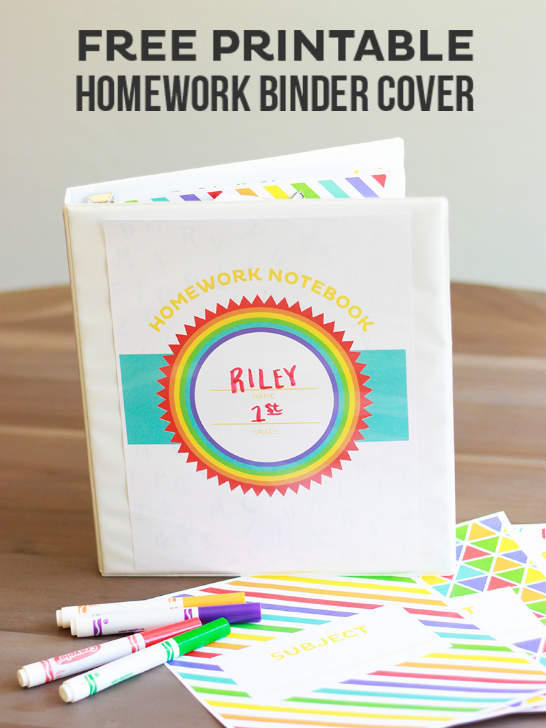 Free Printable Homework Binder Cover