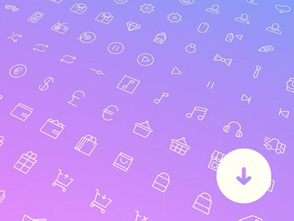 100_simple_line_icons_psd_sketch_svg