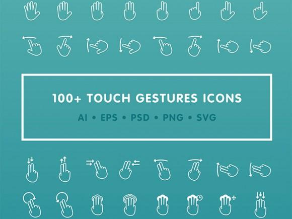 100_free_gestures_icons