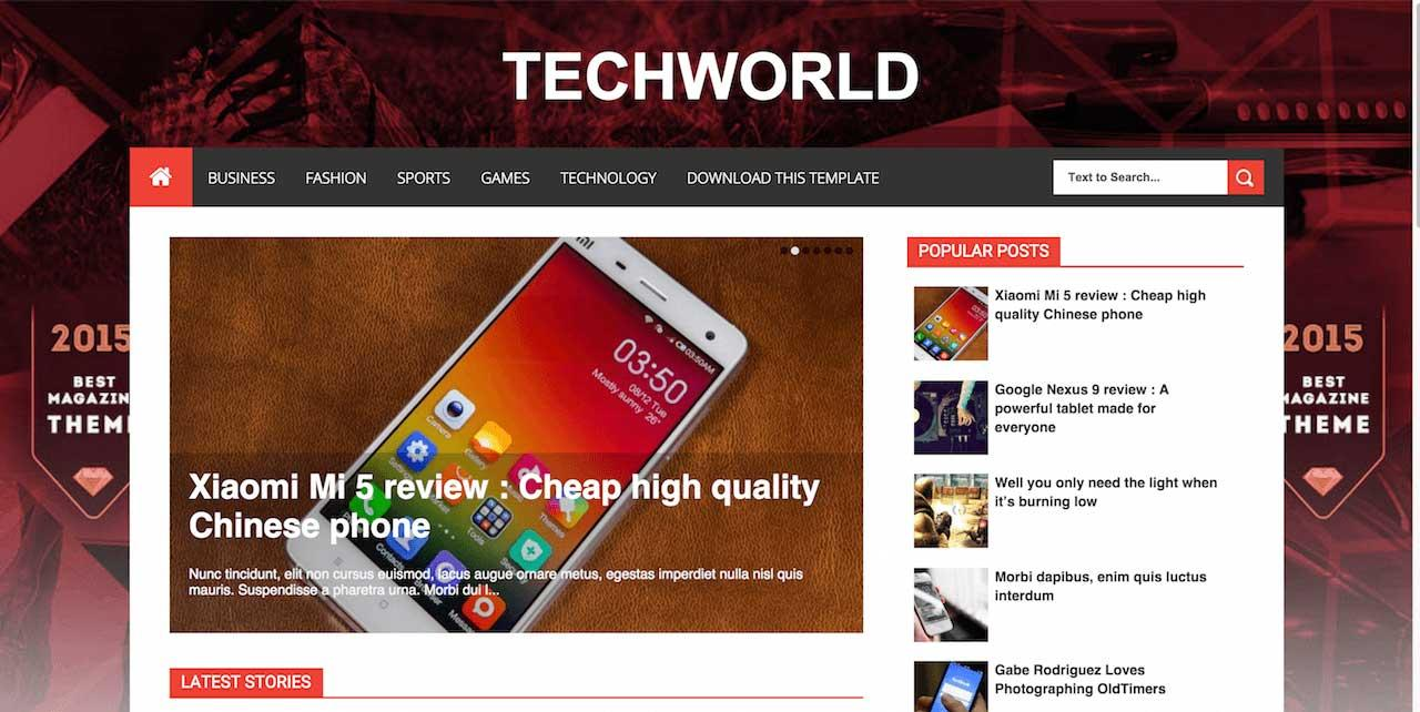 techworld_blogger_template