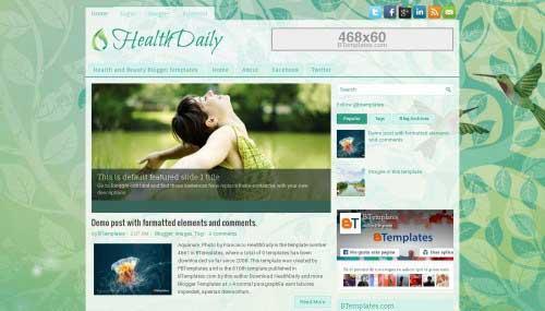 healthdaily_blogger_template