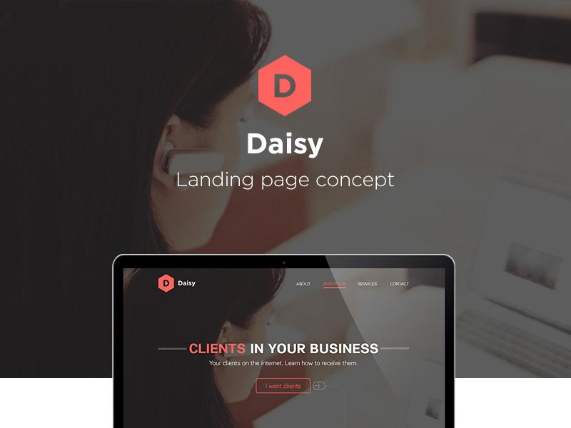 daisy_landing_page_concept