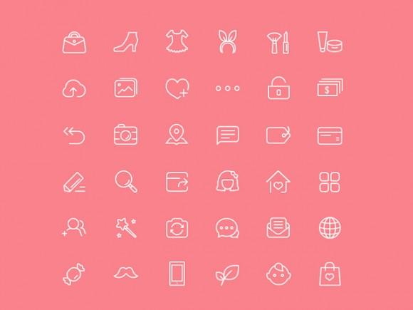 36_chic_female_icons_psd