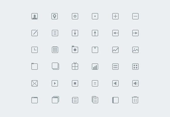 36_thin_icons_psd