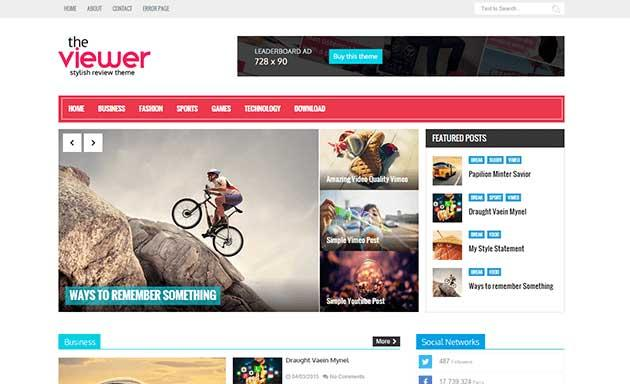 viewer_responsive_blogger_template