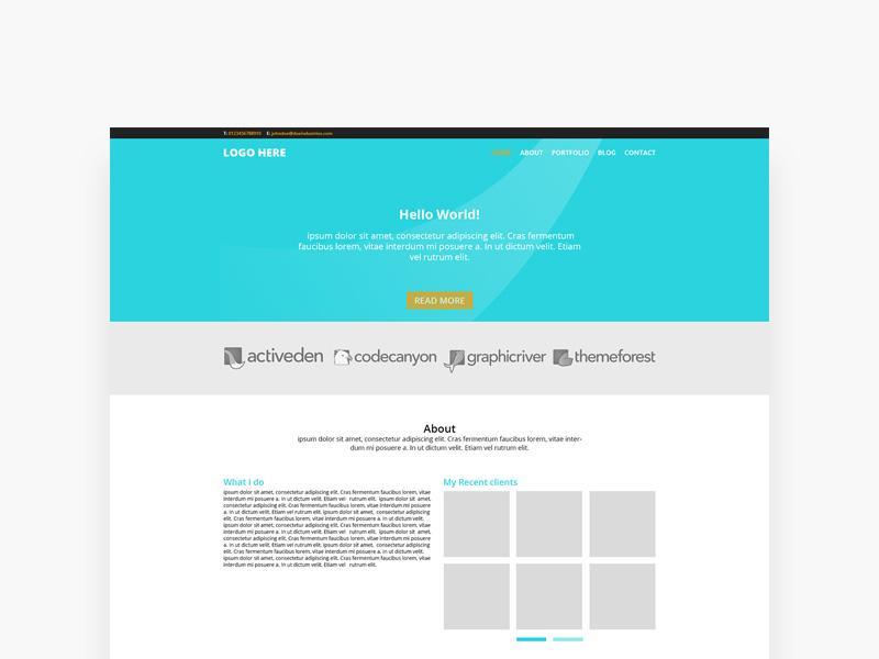 simple_one_page_portfolio