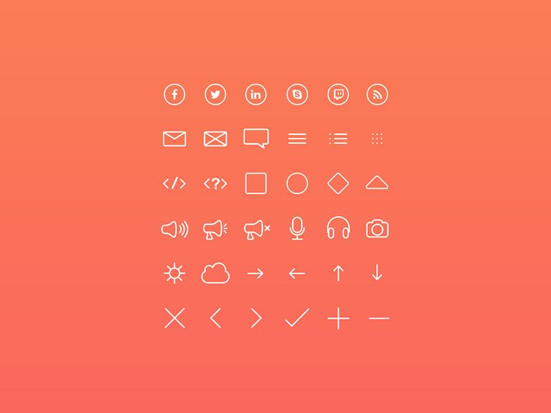 small_line_icon_set