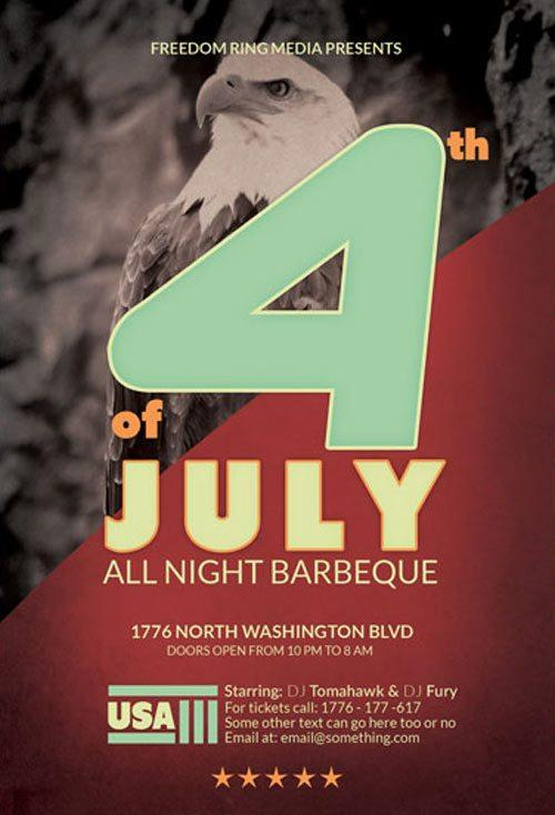 4th_of_july_free_flyer_psd_template