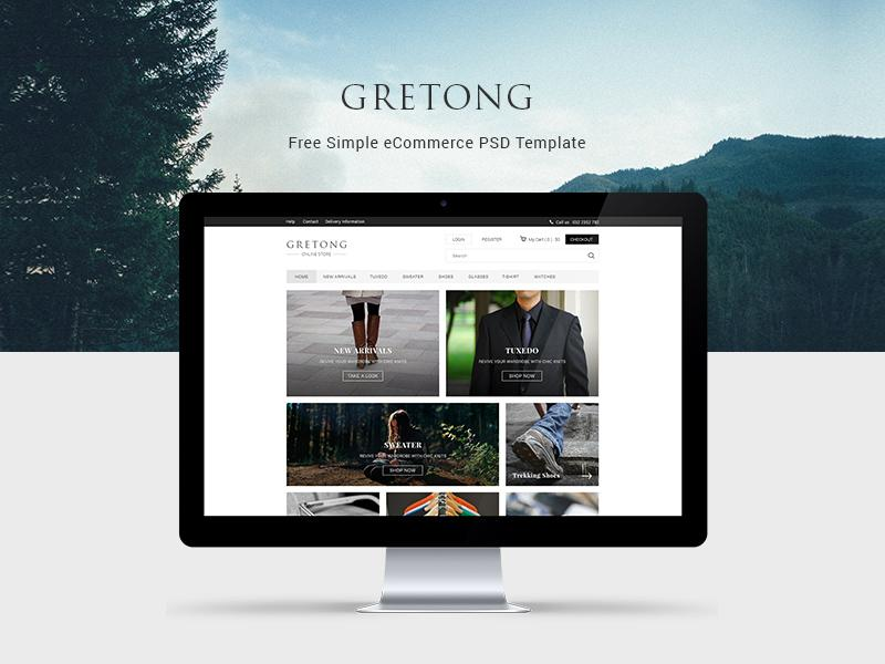 gretong_simple_ecommerce_template
