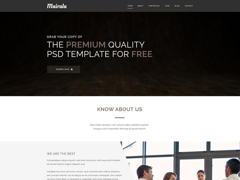 mairala_single_page_corporate_agency_template