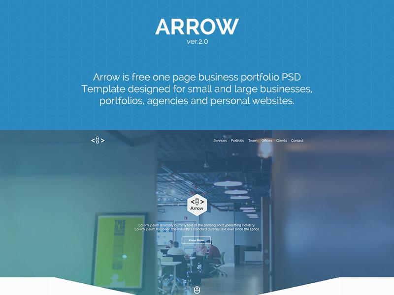 arrow_one_page_business_portfolio_template