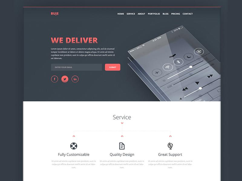 buje_one_page_template