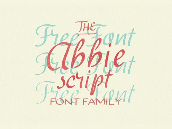 abbie_script_free_font