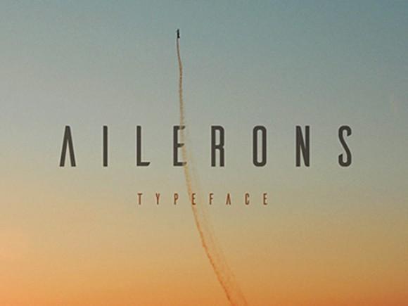 ailerons_free_font