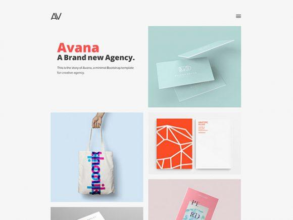 avana_minimal_portfolio_template_for_agencies