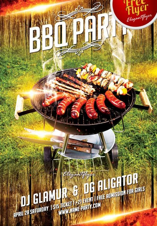 free_bbq_party_flyer_template