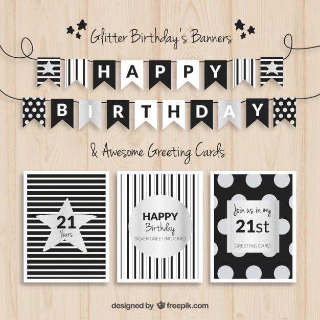 birthday_banners_and_cards_black_and_silver