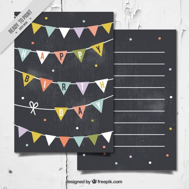 birthday_card_in_blackboard_style_with_garlands