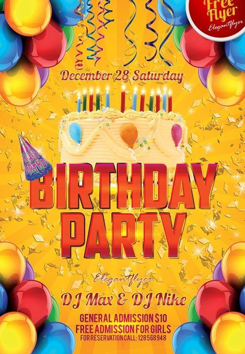 11 Beautiful Free Birthday Flyers Templates Utemplates