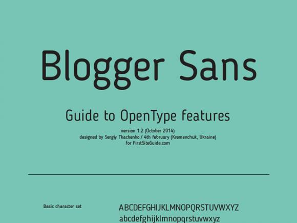 blogger_sans_free_font