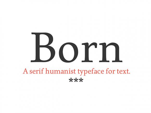 born_a_free_serif_humanist_typeface