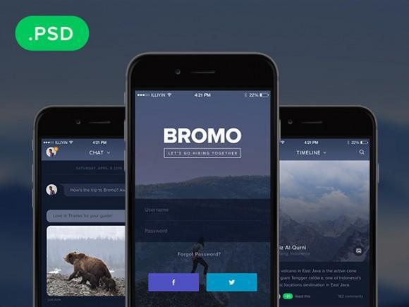 bromo_social_mobile_app_template