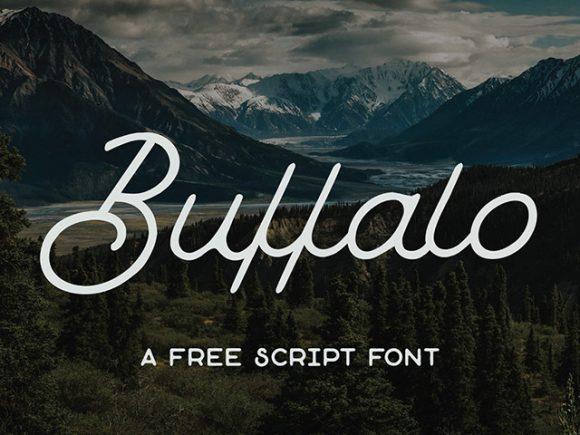 buffalo_free_monoline_script_font