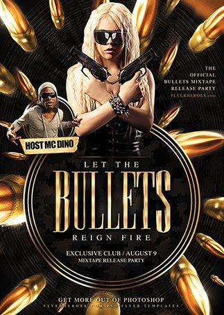 free_bullets_club_flyer_template