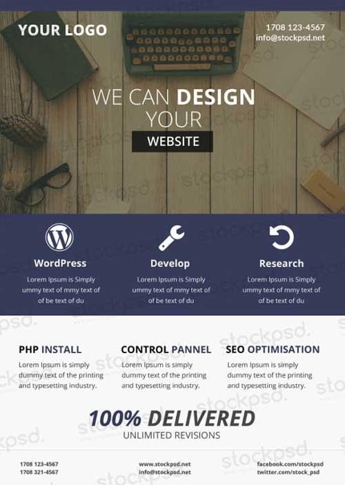 web_design_business_free_psd_flyer_template