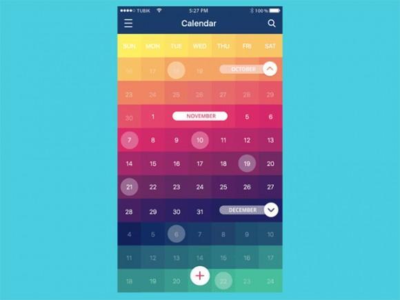 css_calendar_concept