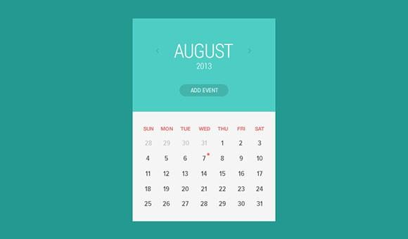 flat_calendar_widget_psd