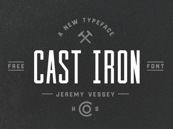 cast_iron_free_font