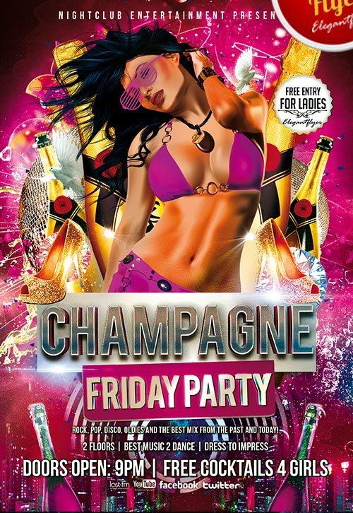 champagne_friday_party_flyer_psd_template