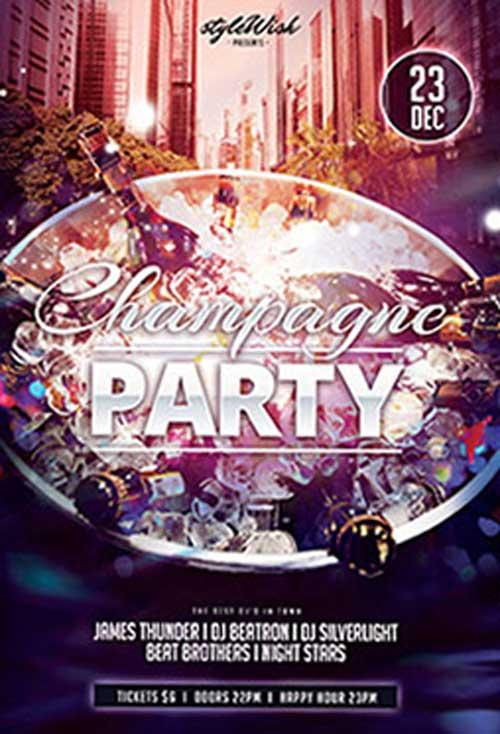 champagne_party_free_psd_flyer_template