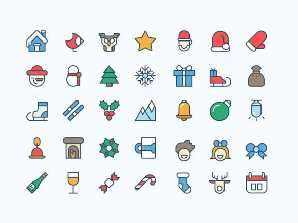 36_coloured_christmas_icons