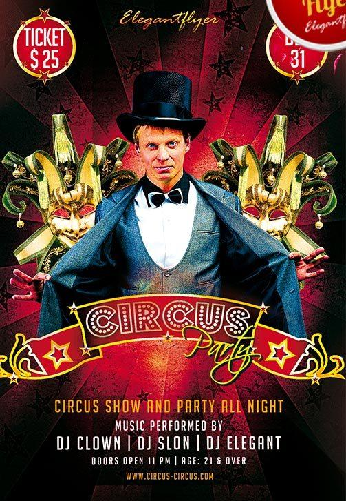 free_circus_party_flyer_template