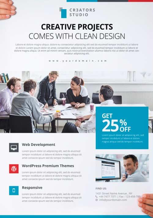 80 creative modern free business flyers templates for Free business brochure templates download