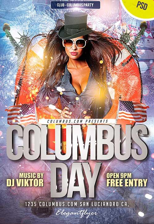 columbus_day_club_free_flyer_psd_template