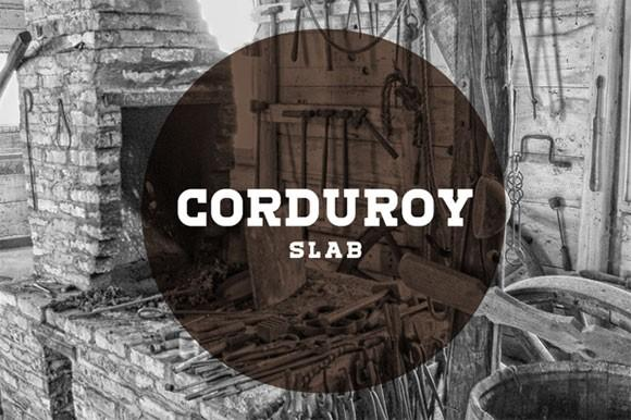corduroy_slab_free_font