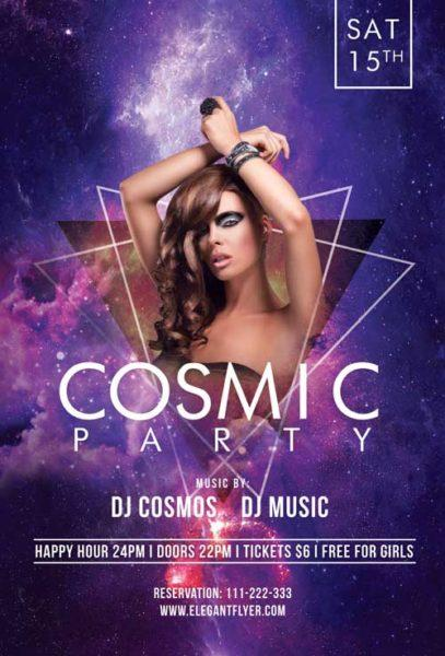 cosmic_party_free_flyer_template