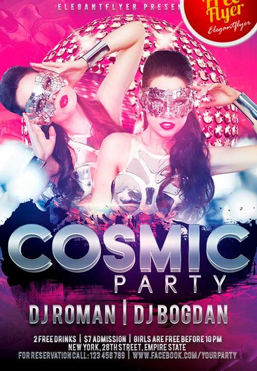 free_cosmic_party_psd_flyer_template