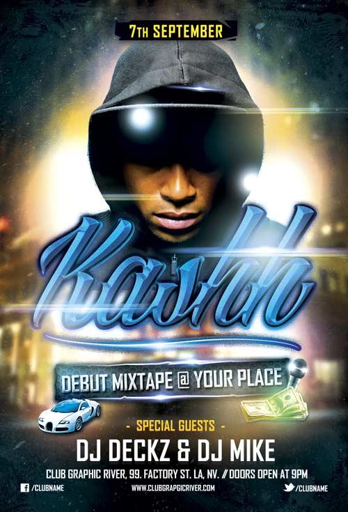 debut_mixtape_hip_hop_free_flyer_template
