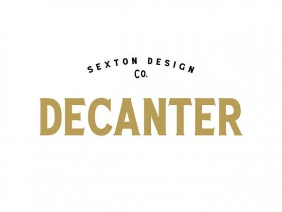 decanter_a_free_all_caps_display_serif_font