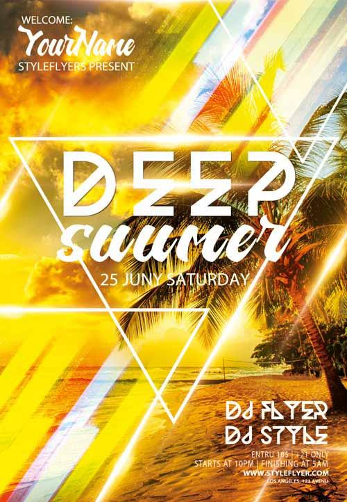 deep_summer_electro_dj_free_flyer_template