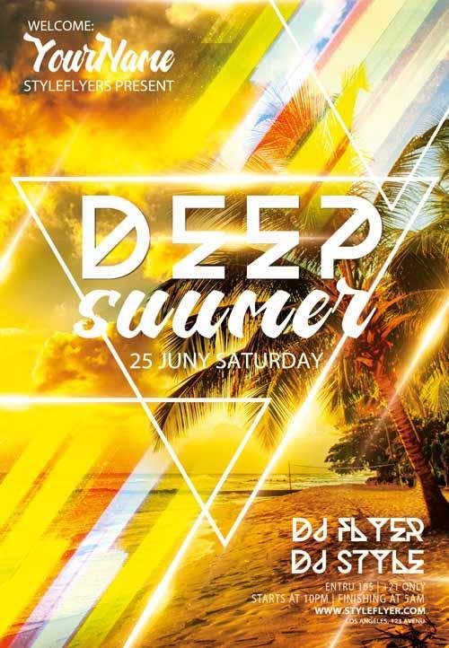 deep_summer_electro_dj_free_flyer_template