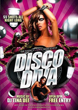 disco_diva_free_psd_flyer_template